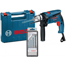 BOSCH GSB 13 RE ütvefúró + MultiConstruction fúrókészlet kofferben, 0601217103