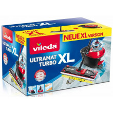 VILEDA Ultramat Turbo XL SET: flat mop + bucket with a squeezer (161023)