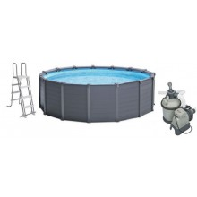 INTEX Graphite Panel Pool Set Medence homokszűrővel  478 x 124 cm , 28382GN
