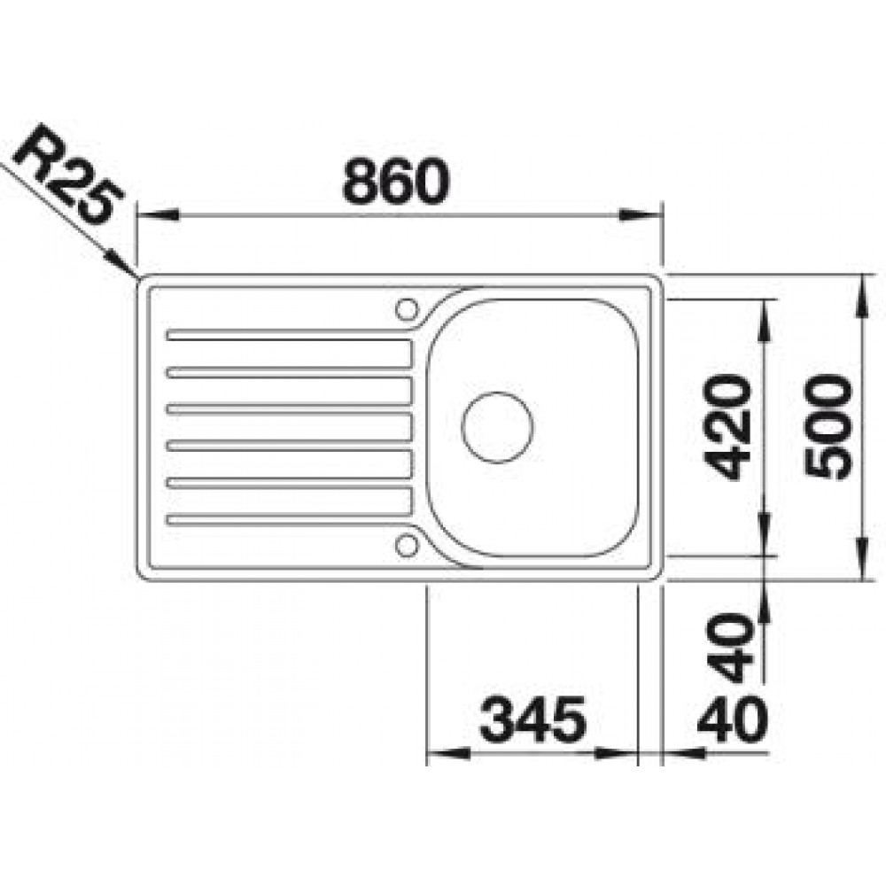 blanco lantos 45 s if rozsdamentes mosogat 519707. Black Bedroom Furniture Sets. Home Design Ideas